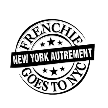 Frenchie goes to NYC logo